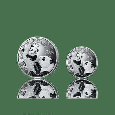 2021版熊猫精制银币