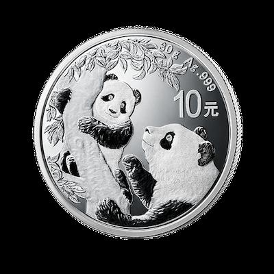2021版熊猫普制银币